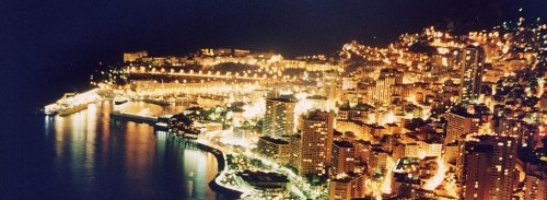 Monaco Montecarlo by night
